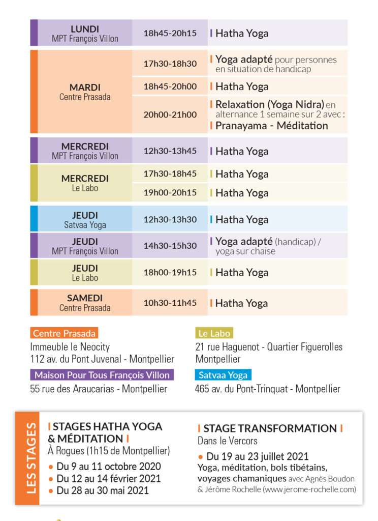 stage de yoga à montpellier